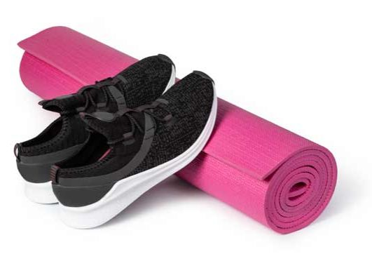 shoes-yoga-mat